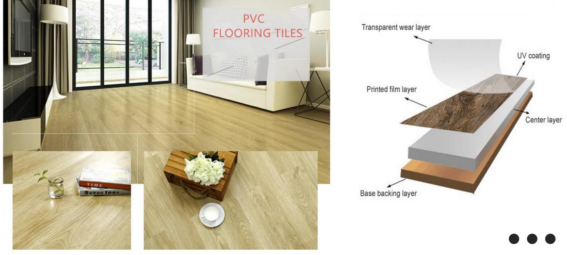 Sinh thái thân thiện dễ dàng cài đặt vinyl lồng vào nhau SPC sàn