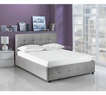 European Furniture King Size Bedroom Wood Double Bed Designs With Box