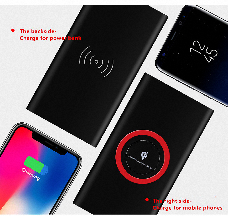 2019 Hot-selling 3 in 1  Portable Wireless Charger 8000mah 10000mah for Phone with wireless Function