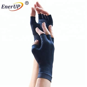 Pain Recover Half Finger copper Compression Cycling weight lifting gym gloves