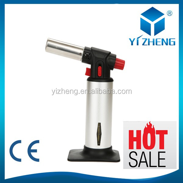 Gas Cooker Camping Lighter bbq gas heating torch Includes torch fuel gauge window YZ-037
