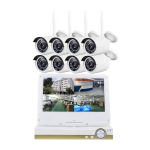 Low energy consumption 8ch nvr and ip camera wifi wireless home security system