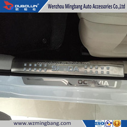 China Manufacture Stainless Steel Inner Door Sills Scuff Plate For Skoda Octavia 2015 Car Accessories