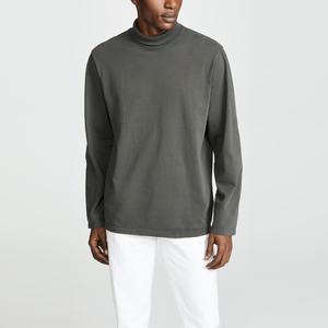 Breathable jersey long sleeve turtleneck men's long sleeve t shirts