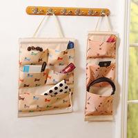 Ningbo slimore Animal printed wall storage organizer 5 pockets hanging skin care organizer