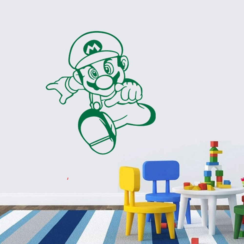 2015 DIY Free shipping creative home decor can Mario baby wall sticker, wall stickers for kids rooms decoration