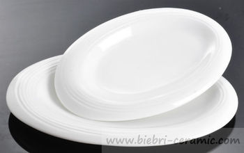 Pure White Large Decorative Ceramic Porcelain China Charger Dinner Plates With All Size Whole