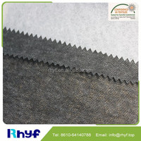 Non-woven fusible interlining for garment wash