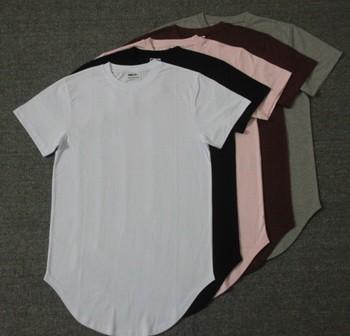 cf5314d0eaf ATSC036 Curved Hem Tall Tee basic Length oversized extended t shirt Hem Tall  Tees Long Back