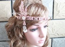 Hot sale crystal rhinestone bikini connector Gatsby Crown Headpiece MYGBC032