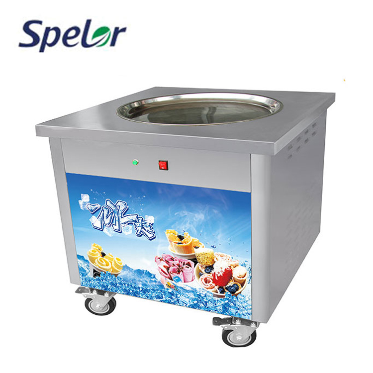Compressor R404A Refrigerant New Style Fried Ice Cream Machine