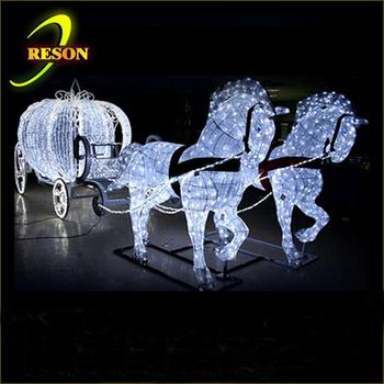 dekorasi pernikahan led kereta kuda kerajaan untuk