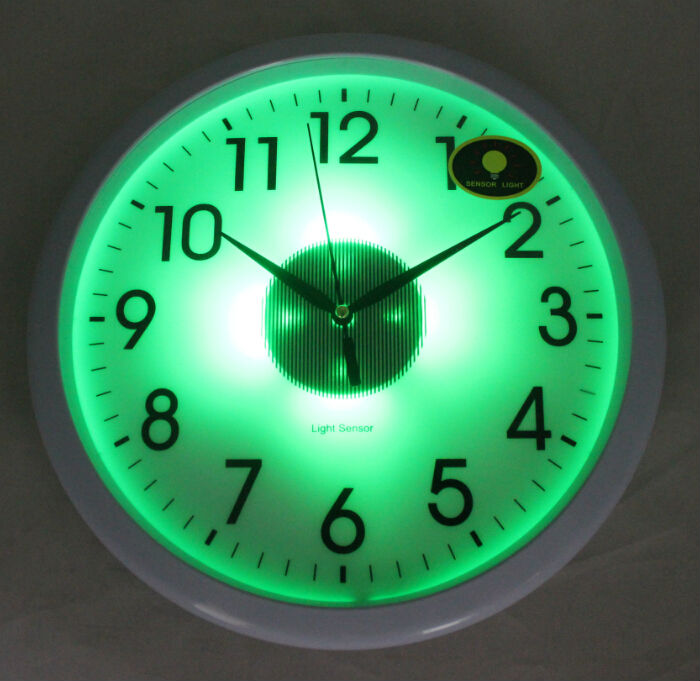 Light Sensor Wall Clock Light In The Dark Clock Office