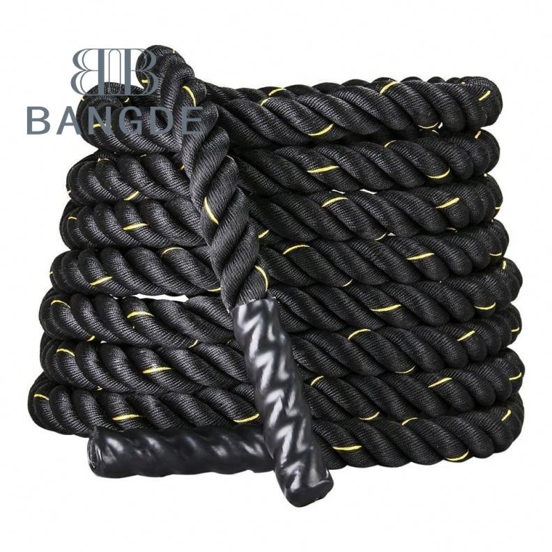 "Schwarzes 1,5 ""/ 2"" Durchmesser Poly Dacron 30/40 / 50ft Länge Power Battle Rope Workout Training Undulation Battle Rope"