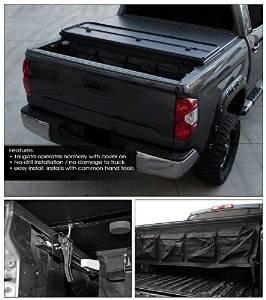 "Topline Autopart Solid Tri-Fold Tri Fold Hard Tonneau Truck Topper Cap Cover Trunk Lid Kit With Tool Bag For 97-04 Dodge Dakota Regular / Club Cab 6.5 Feet 78"" Bed"