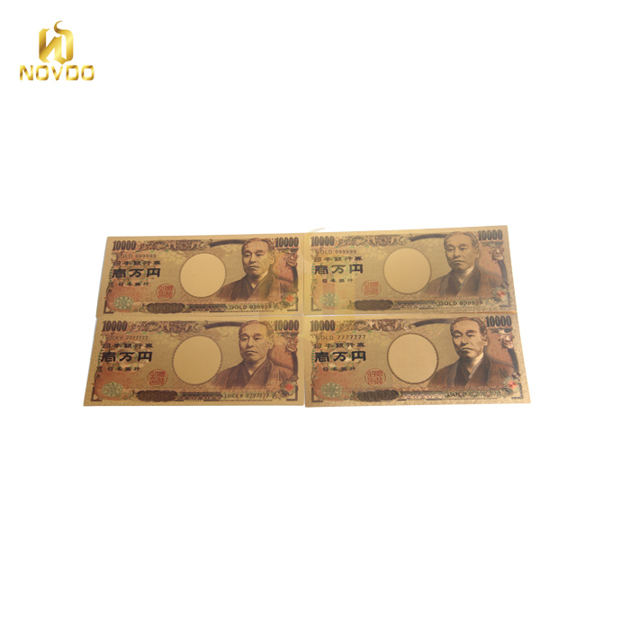 High Quality The Whole Set of Japan Yen value of gold foil paper currency