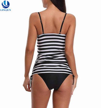 High Quality Women Swimwear Stripe Fashion Design Girls Swimming Bathing Suit Swimwear
