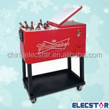 Stainless Steel Outdoor Party Ice Cooler Cart Non Refrigerated For Use