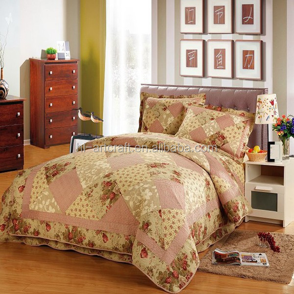 Wholesale beautiful rose design bedsheets cotton