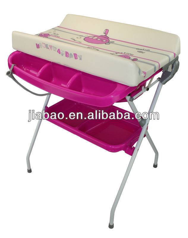 Folded Baby Bath Station With Stand And Mattress(en12221) Bath ...