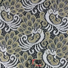 Cheap price charmming cotton/nylon/lurex lace fabric for garment/wedding/party