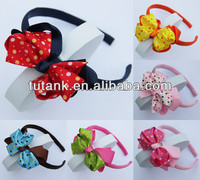 Girls Baby Hair Bands Baby Kids Headbands Cut Dots Hair bows Hair Accessories