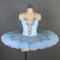 Sky Blue Professional Ballet Dance Tutu for Girls & Women Stage Performance Ballerina Costume Classical Ballet Solo Tutus B19001