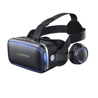 VR SHINECON 4.0 Cheap Price Hifi Headphone VR 3d Glasses with controller for game players