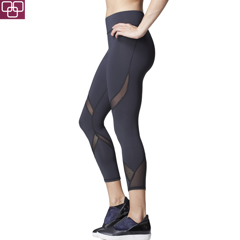 High Quality Custom Costumes For Girls Wholesale Tight Leggings Gym Black Capri Pants for Women