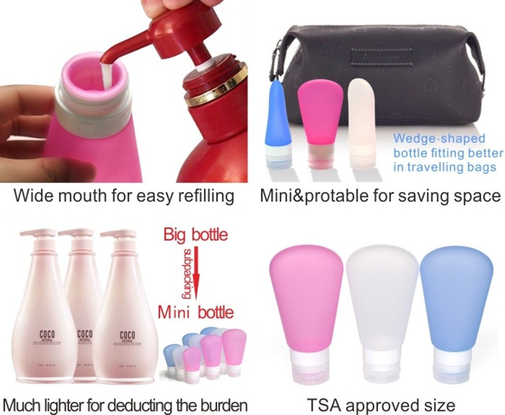Travel Packing Bottles, Portable Soft Silicone Travel Packing Set for  Shampoo, Conditioner, Lotion, Toiletries