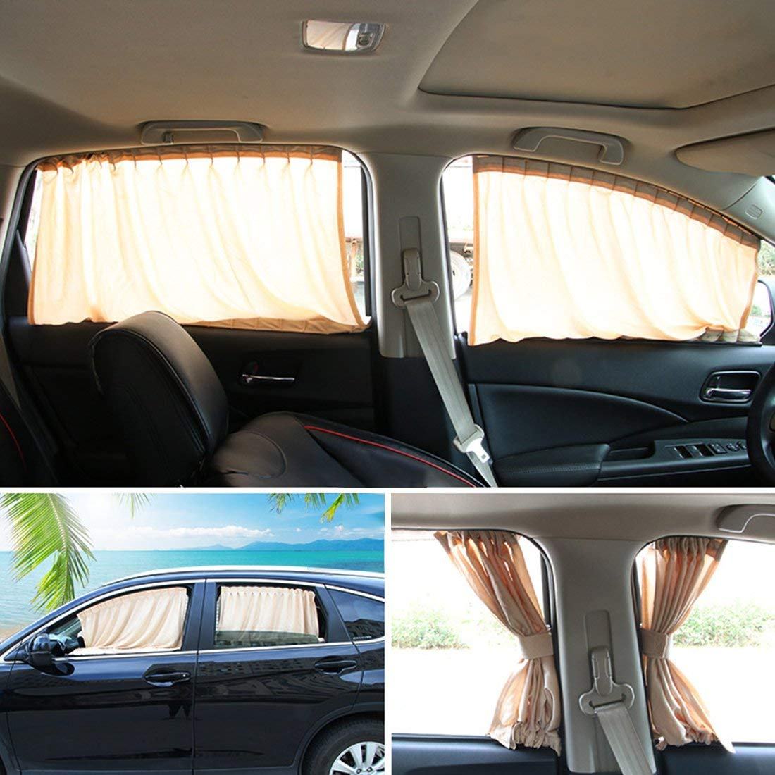 Factory 100%polyester blackout custom oval luxury vip car window curtain
