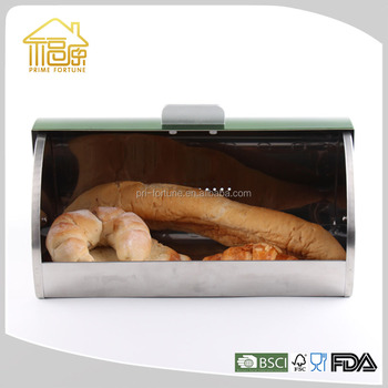 Stainless Steel Bread Box Bamboo Electric