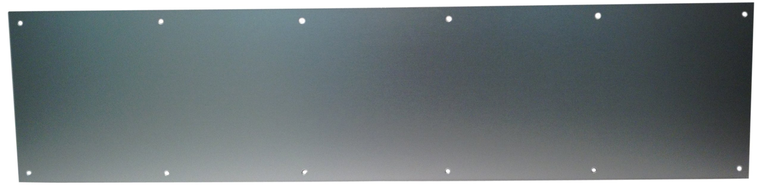 4 Width x 16 Height Don-Jo 7120 Aluminum Pull Plate with 1 Round Pull Satin Anodized Aluminum Finish