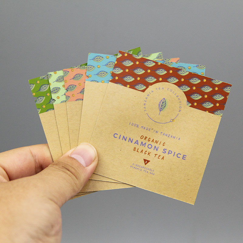 Waterproof biodegradable slimming green tea kraft paper sachet/cosmetic cream sample packaging