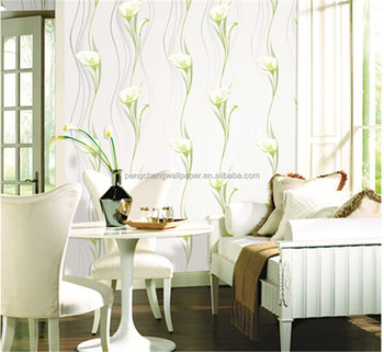 2015 New White Flower Design Wallpaper Bonny Decorative For Home Decoration 3d Wallpapers Wall Paints