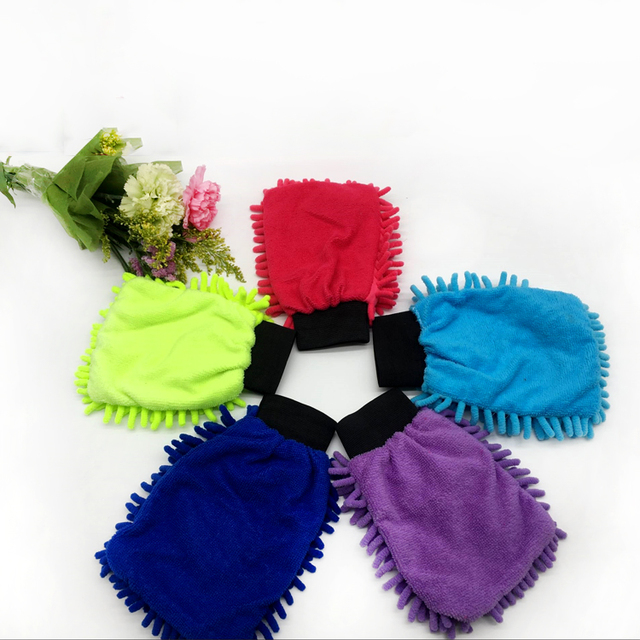 Quick dry high quality cute children chenille car wash mitt