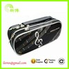 High quality black PVC dual layers pencil bag