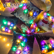 Monad comfortable fabric christmas design lite up pillow glow in the dark printed pillow