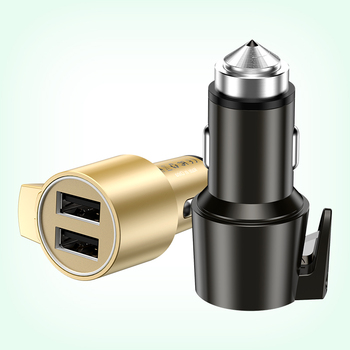 Wholesales new style aluminum ABS+PC QC 2.0/QC 3.0 quick charger car charge 2 port 12v 24v usb car charger