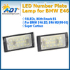1998-2003 For BMW e46 2D M3 COUPE LED Number License Plate light Lamps