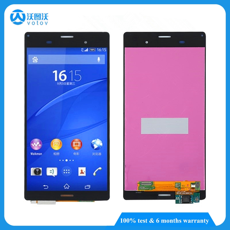 For Sony Xperia Z3 D6603 D6643 D6653 LCD Display Touch Screen digitizer Assembly Bezel Frame Replacement
