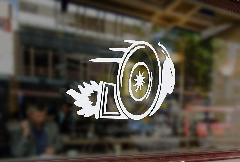 25x17cm Turbo Fast Snail funny Vinyl Stickers Decal Car Auto Jdm Window Glass