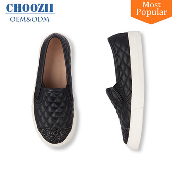 d175cf9d209 Newest collection slip on black leather girls loafers shoes with glitter  decoration jpg 350x350 Girls loafers