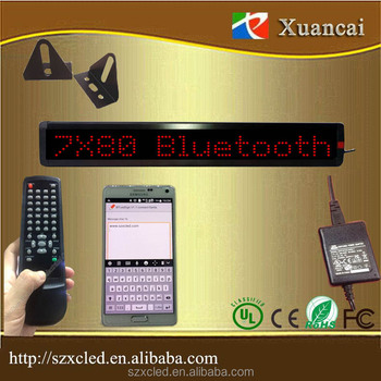 New ! Xuancai Bluetooth App For Mobilephone &computer And Ir Remote  Controller Programmable Led Single Line Scrollingsign - Buy Android Apps  Bluetooth