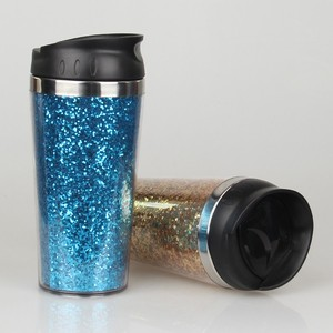 shenzhen manufactured bling stainless steel coffee mug with lid