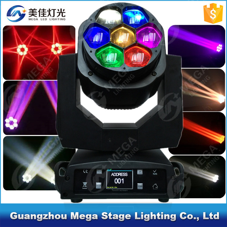 4in1 mini bee eye fancy stage light 7x15w led zoom moving head