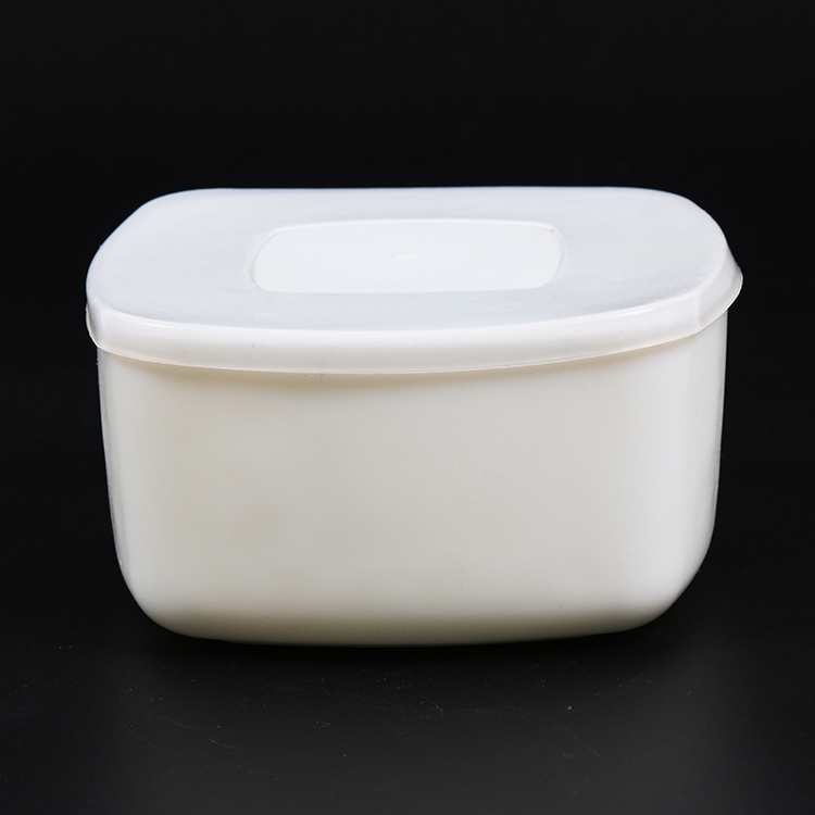 Finely processed fresh food opal glass sugar bowl with lid