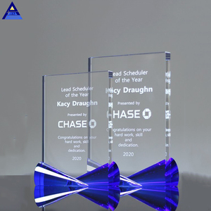 Factory Price Glass Trophy Plaque ,Blank Crystal Glass Plaque Trophy For  Laser Engraving