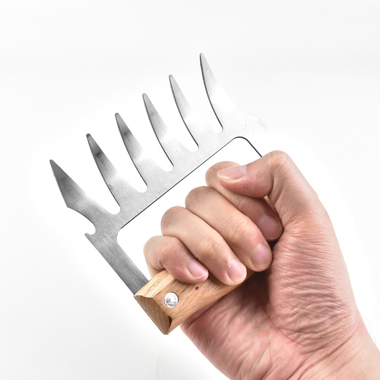 Stainless Steel Pulled Pork BBQ Barbecue Meat Claws Paw Shredder Handling Fork