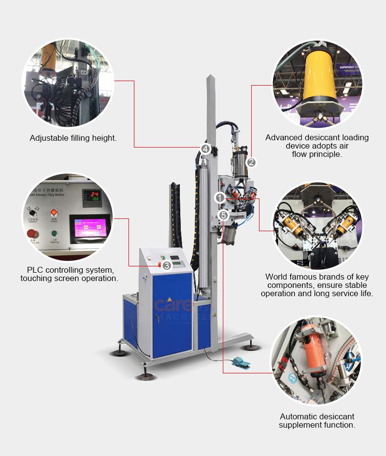 Pengering Mengisi Mesin untuk Isolasi Glass Membuat Lini produksi